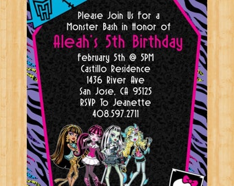 Monster High Invitation