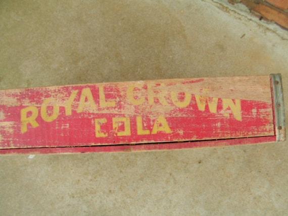 Vintage Rc Cola Case Genuine Royal Crown Cola Great