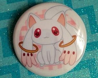 Puella Magi Madoka Magica Kyubey Chibi Button