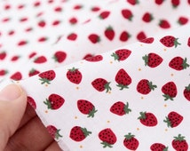 Fabric Cute Strawberry pattern Fabric by the yard #6
