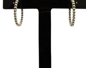 Stering Silver Hoop Earrings