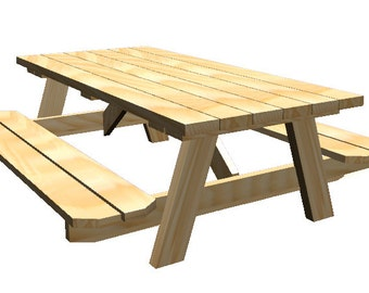 Natural HardWood Picnic Table - Outdoor Furniture