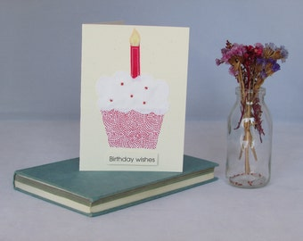 Handmade 'Birthdays Celebrations' card in red
