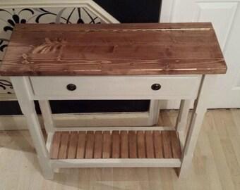 Handmade Shabby Chic Narrow Console Table