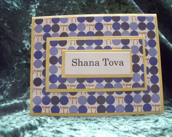 Rosh Hashanah Card with Jewish Designer Paper