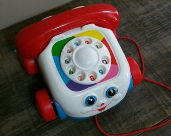Vintage Fisher Price Chatter Phone, 1980s Fisher Price Chatter Phone
