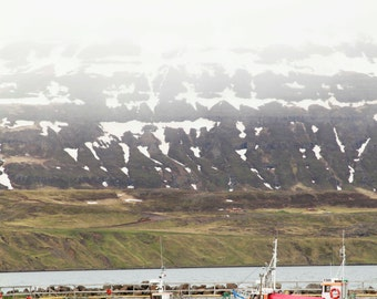 Iceland, fishing and mountains