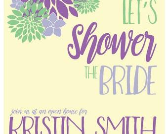 Bridal Shower Flower Invitation