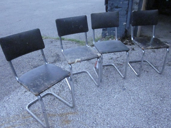 4 Cosco Metal Chair Black Eames Mid By UniversalSupplyHouse