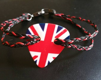 Guitar pick bracelet. British love!