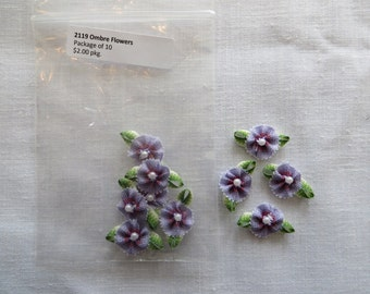 Purple Ombre Flowers 2119A
