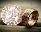 Mayan Calendar 1oz Handcrafted .999 Pure Copper Coin Ring.