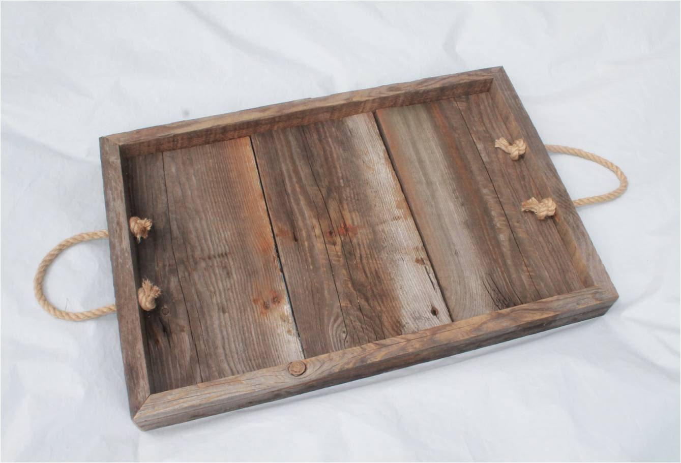 Old Barn Board Tray Wood Rustic Wooden