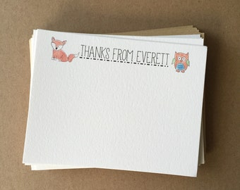 """Personalized """"Thank You"""" Notecards"""
