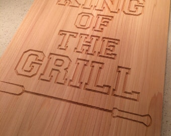 King of the Grill Outdoor Tool Holder and Plaque
