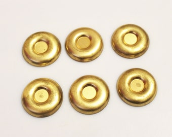 Brass Stamping,Jewelry Findings Made in USA , Unusual Jewelry Components (FDS-74)