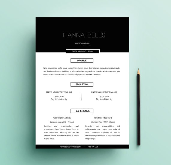 resume template and cover letter resume word template professional