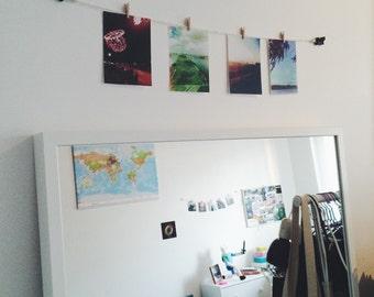 Photo Garland Kit, wall photo bunting with mini clothes pins and polar bear pins