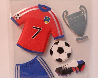 The Paper Studio La Petites 3-D Stickers - Soccer