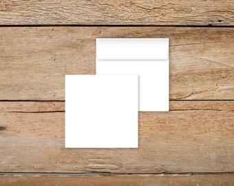 Plain White Envelopes for 6x6 Invitations - 50 Qty
