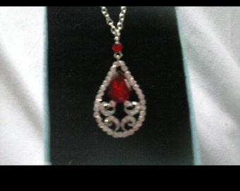 Ruby Red Rhinestone necklace