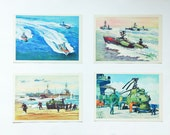 "Set of soviet cards ""Modern ships of the Navy of the USSR"" Issue 2. 16 postcards."