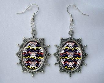 Sliver Earrings Aztec Tribal