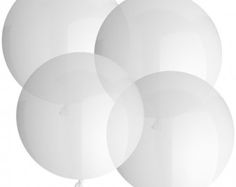 1- CLEAR  36 inch Balloon- Colorful and great quality. Helium Quality