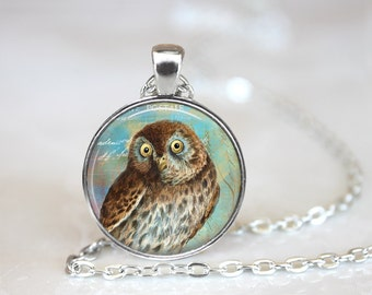 Owl Jewelry, Owl Necklace, Owl, Owl Pendant