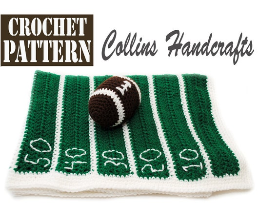 Pattern Football Field Blanket W Mini Toy Football For A