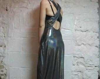 hand made glittery silver dress