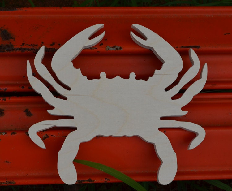 Nautical Decor Wood Crab Cutout Wall Beach Decor Nursery