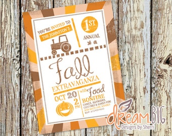 Fall Harvest Party Invite - Printable