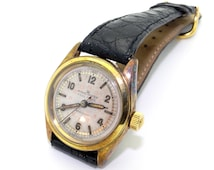 Vintage Rolex Pall Mall Observatory Red Dial Watch 4270 Vintage Steel Yellow Gold Filled 1940s