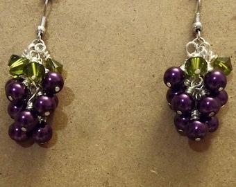 Bunch of Purple Grapes Earrings