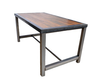 Stanley – Industrial Solid Oak and Steel Table (2000mm x 900mm x 800mm)