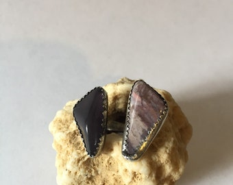 Two Stone Floating Ring size 6