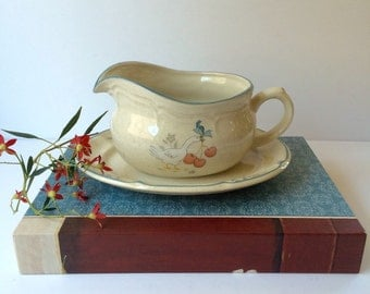 Retro International China Marmalade Gravy Boat