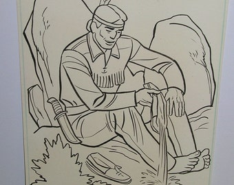 Vintage Lone Ranger and Tonto Original Art Page # 60