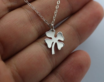 FOUR LEAF CLOVER Necklace - 925 Sterling Silver Luck Lucky Shamrock Irish New
