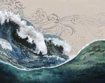 Tidal Wave 11x17 Print