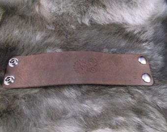 "2"" Leather wrist cuff wristband Steampunk Cosplay"