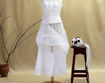 White Tulle Wedding Crinoline Bridal Petticoat Underskirt Wedding Dress Wedding Separates Bridal Slip Beach Wedding Bohemian Wedding Prom