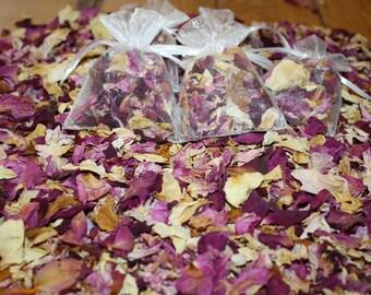 Purple real petal confetti 5 bags, biodegradable, real flower confetti, rose confetti
