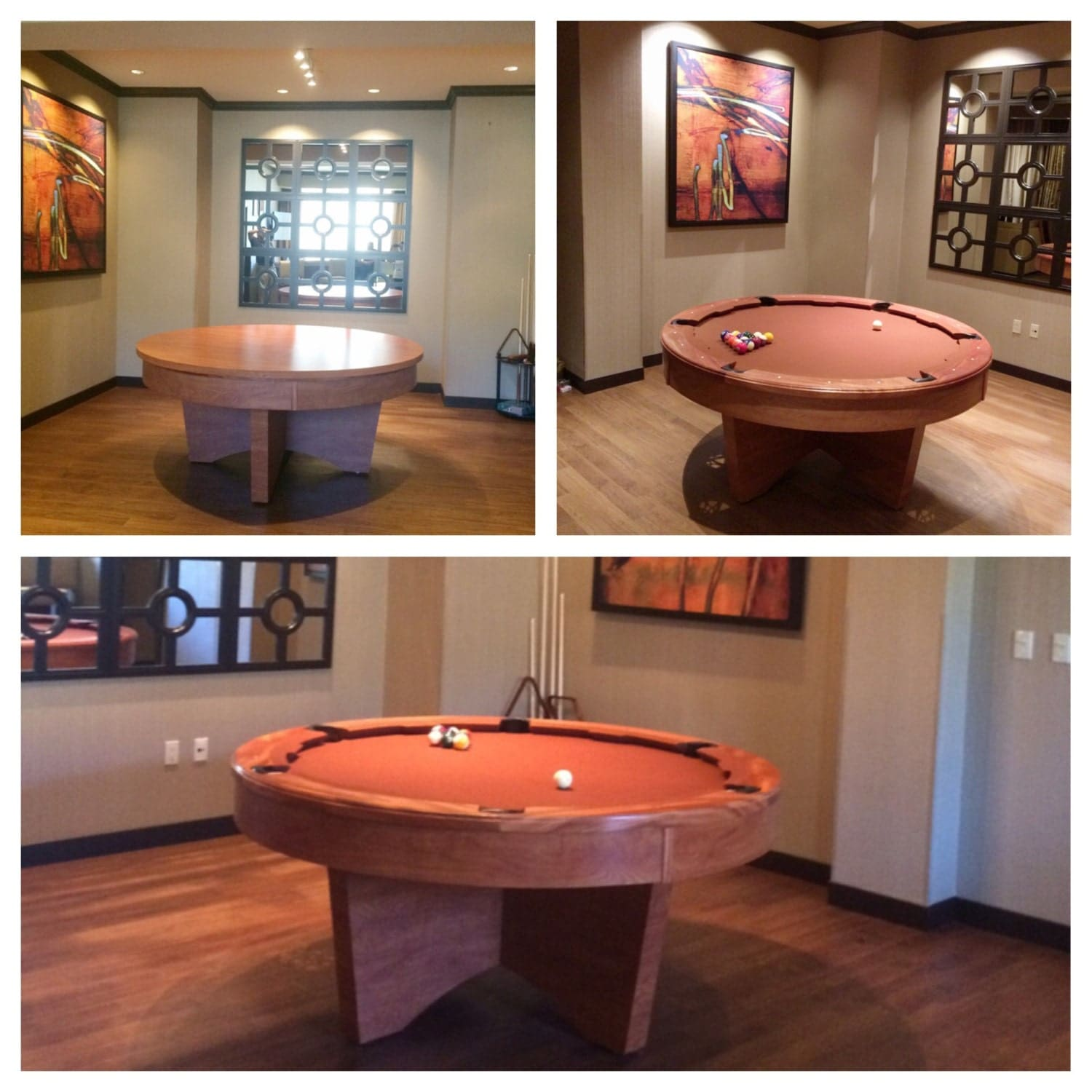 Pool Table For Sale Round Poker Pool Table By Pooltables