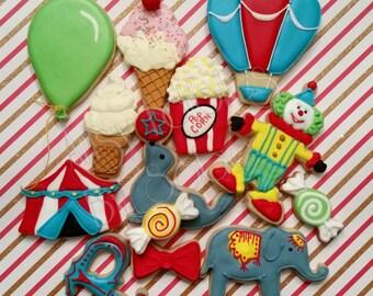 Carnival - Circus Sugar Cookies