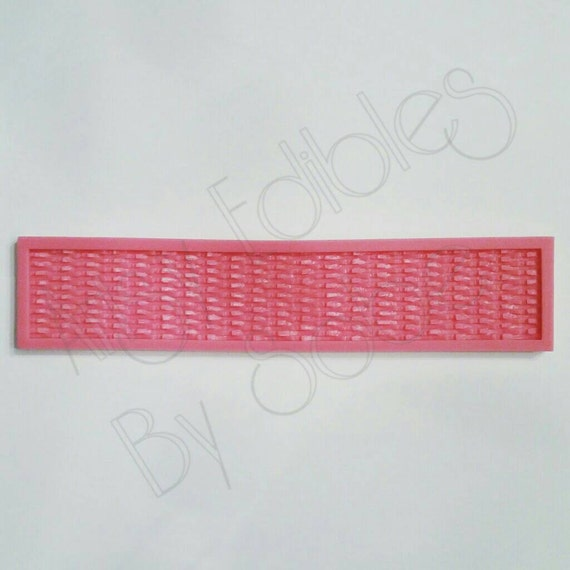 Basket Weaving Molds : Small basket weave silicone mold