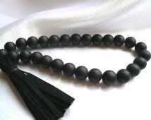 Rosary Natural stone Shungit 27 beads Handmade rosary Gift for the man Schungite