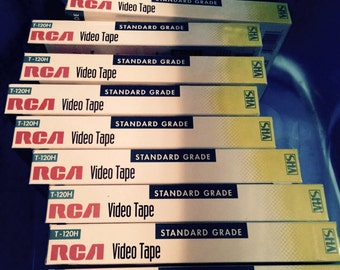 9 Factory Sealed Blank RCA Video Tapes Standard Grade 6 Hours