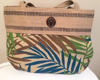 Fancy fern tropical bag